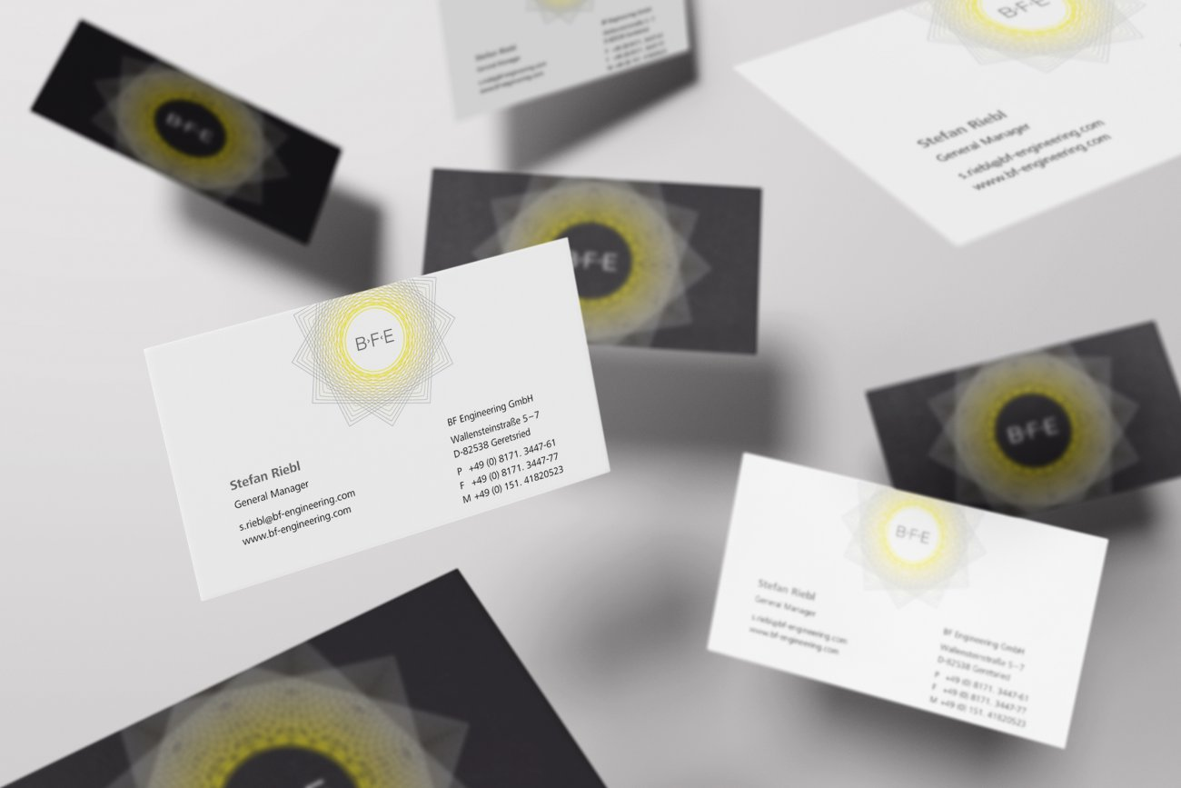 bfe flying business cards mockup